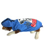 Pawzone Sublime Blue Dog Hoodie, 14 size