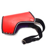 Pawzone Synthetic Leather Dog Muzzle in Red (Medium)
