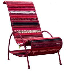 Pelican Chair In Shades of Crimson by Sahil Sarthak Designs