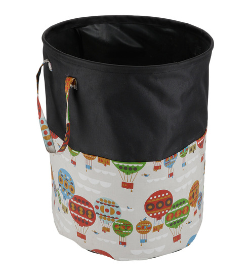 Perfect Balloon Multicolour Cotton 15 L Laundry Basket