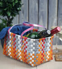 Peacock Life Small Plastic Multicolour Basket