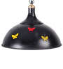 Peacock Life Butterfly Dome Black Pendant