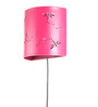 Peacock Life Pink Dragonfly Perforated Wall Lamp