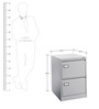 Pedestal Cabinet with Filing Pockets by Eurosteel