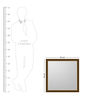 Pegasus Minimalist Mirrors in Gold by CasaCraft