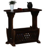 Beaufort Table cum Magazine Rack in Provincial Teak finish by Amberville