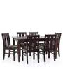 Pennie Six Seater Dining Table in Semi Glossy Rosewood Color by JFA Touchwood