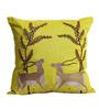 Per Inch Apple Green Poly Silk 16 x 16 Inch Hiran Afsana Cushion Cover