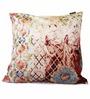 Per Inch Multicolour Poly Velvet 16 x 16 Inch Cushion Cover