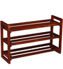 Toledo Shoe Rack in Honey Oak Finish by Woodsworth