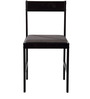 Peter Set of Six Chairs in Wenge Finish with Dark Brown Cushion by Forzza
