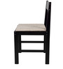 Peter Set of Two Chairs in Wenge Finish with Beige Cushion by Forzza