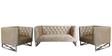 Phoenix Sofa Set (2+1+1) in Velvet Beige Color by ARRA