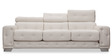 Phoenix Three Seater Sofa in White Colour by Durian