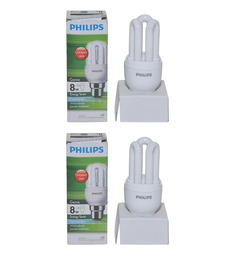 Philips White 8W CFL Light - Set of 2