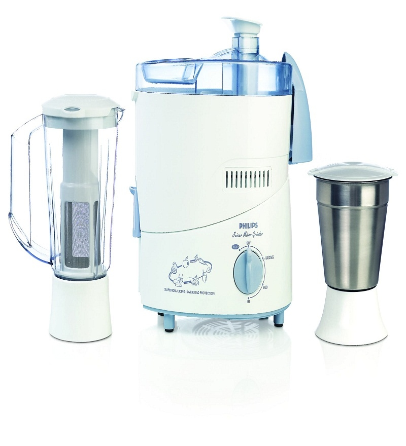 Philips HL1631 2 Jars Juicer Mixer Grinder (White)