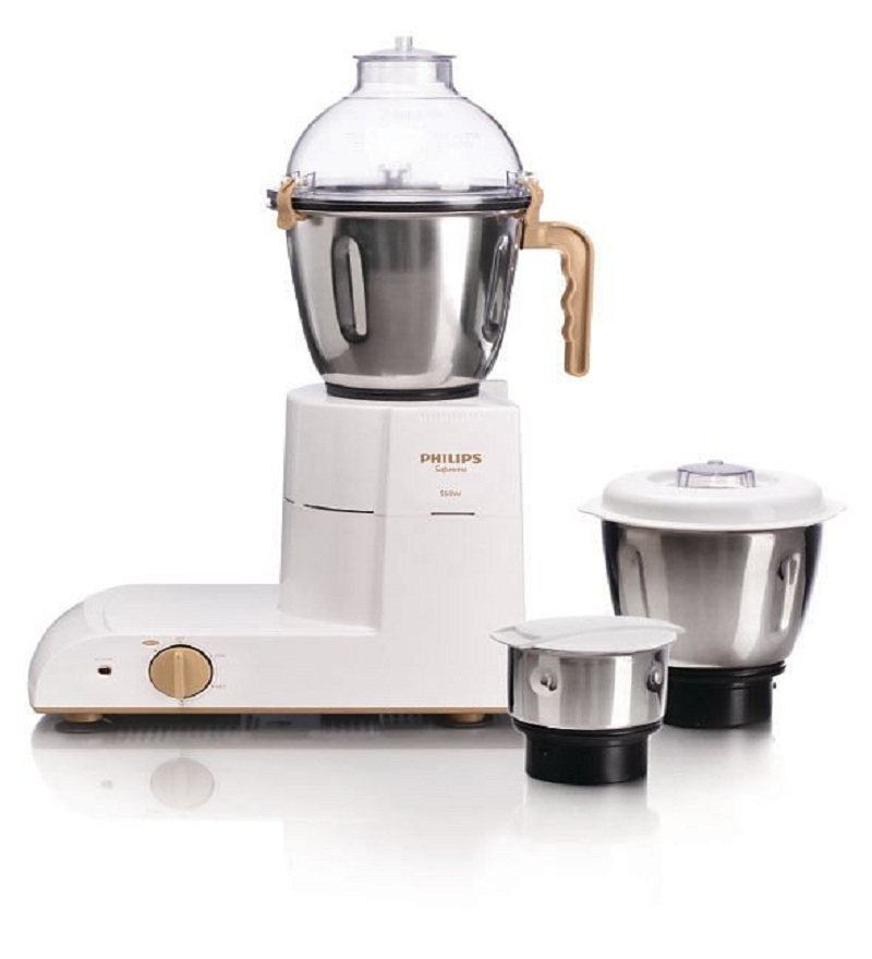 Philips HL1618/02 3 Jars Mixer Grinder (White)