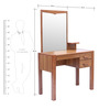 Phoebe Dressing Table in Brown Colour by Lalco Interiors