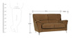 Piper (3 + 2) Seater Fabric Sofa Set in Brown Colour by Home City