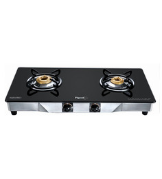 Pigeon Crystal SS and Brass 2-Burner LPG Gas Stove