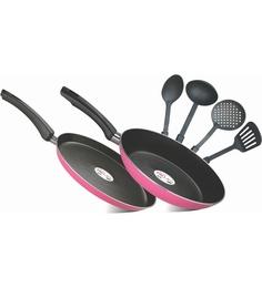Pigeon Rc 6 Pc Gift Set -(Tawa 280+ Frypan 240 + 4 Pc Kitchen Tool Set )