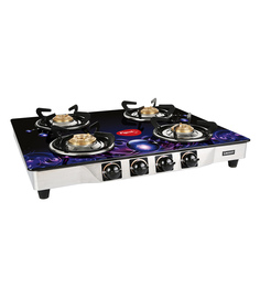 Pigeon Smart Plus Zeus Brass 4 Burner Gas Stove