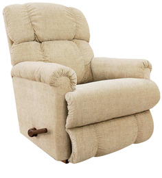Pinnacle Recliner with Cream Fabric Cover by La-Z-Boy