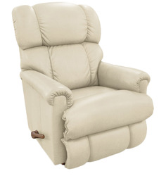 Pinnacle Recliner with Cream Leatherette Cover by La-Z-Boy