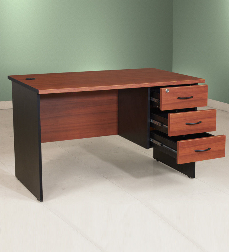 Exceptional 4 Foot Office Desk By Pine Crest Admire Office Desk With 3 Drawers 4feet X  2 ...