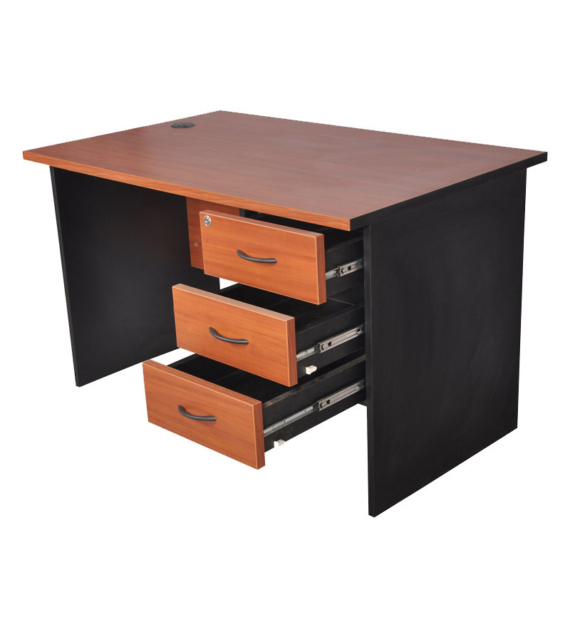 pine crest admire office table 4 x 2 5 with 3 drawers by pine crest workstations
