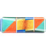 Pickled Canvas Abstract Brushstroke Art Platter Acrylic Tray