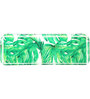 Pickled Canvas Green Foliage Platter Acrylic Tray