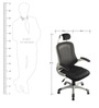 Pilot High Back Executive Chair in Black from VOF