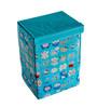 Pindia Foldable Fabric Blue Kitty Design Storage Box Organizer