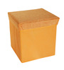 Pindia Foldable Fabric Orange 10 L Stool with Lid & Storage Box
