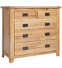 Pine Wood Chest Of Drawers in Brown Colour by Asian Arts