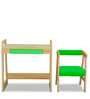 Pineworks Desk & Chair set in Green Colour by Alex Daisy