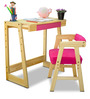 Pineworks Desk & Chair set in Pink Colour by Alex Daisy