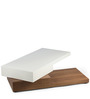 Pirouette Revolving Coffee Table in Brown & White Colour by HomeHQ