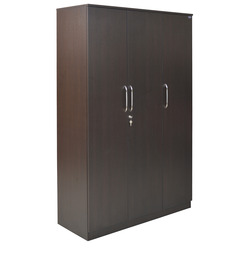 Platina Three Door Wardrobe in Wenge Colour by Crystal Furnitech