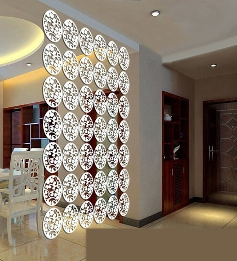 Buy Planet Decor White Acrylic Flower Amp Leaves Room Divider Online