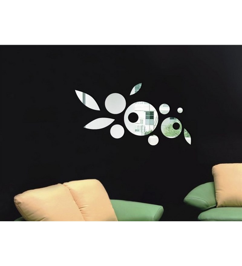 Planet decor flowers mirror wall sticker by planet decor for Decor planet