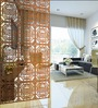 Planet Decor Brown Acrylic with Wooden Lamination Geometric Room Divider
