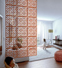 Planet Decor Brown Acrylic with Wooden Lamination Classic Room Divider