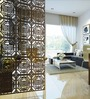 Planet Decor Wenge Acrylic with Wooden Lamination Geometric Room Divider