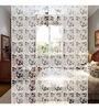Planet Decor White Acrylic Leaf Design Room Divider