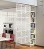 Planet Decor White Acrylic with Wooden Lamination Room Divider