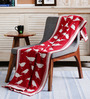 Pluchi Chirping Birds Red Cotton Single Throw Blanket