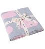 Pluchi Ducky Love Baby Blanket in Light Pink & Soft Grey Melange Colour