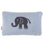 Pluchi Elephant Cushion Pillow in Sea Blue & Natural Colour